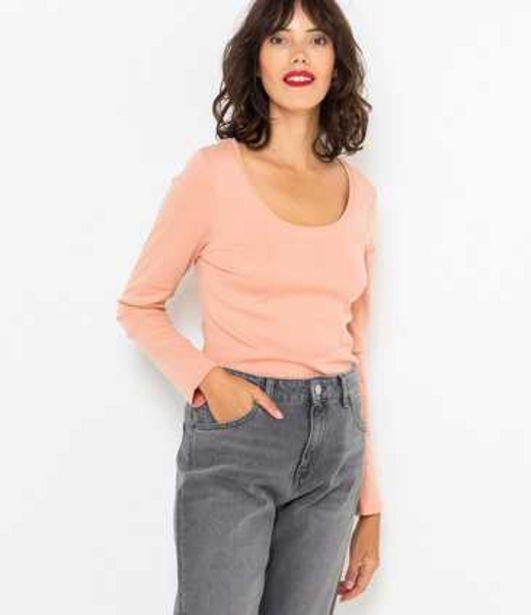 T-shirt manches longues femme coton bio offre à 7,99€