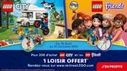 pour 20 d´achat Lego City et/ou Lego Friends offre à